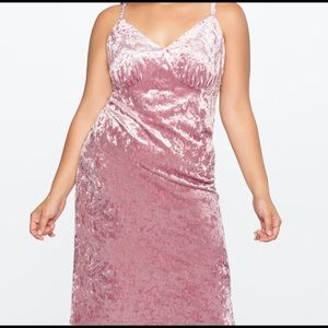 Candy Pink Crushed Velvet Dress 24